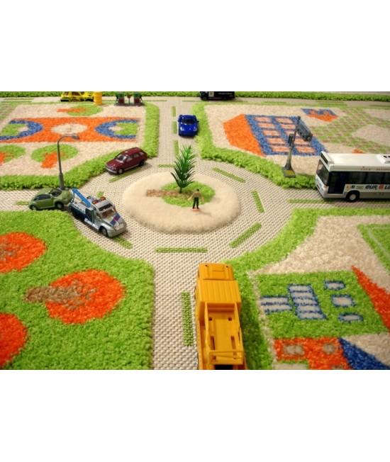 Covor de joacă pentru copii 3D - IVI Green Town Traffic 100 x 150