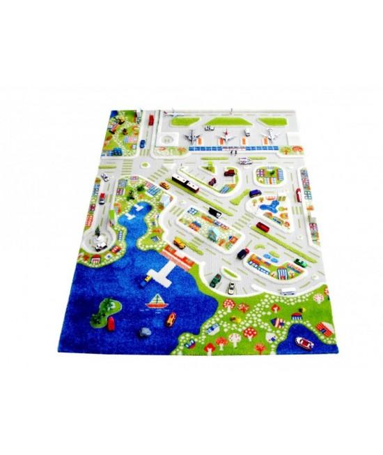 Covor de joacă pentru copii 3D - IVI Mini City 134 x 180