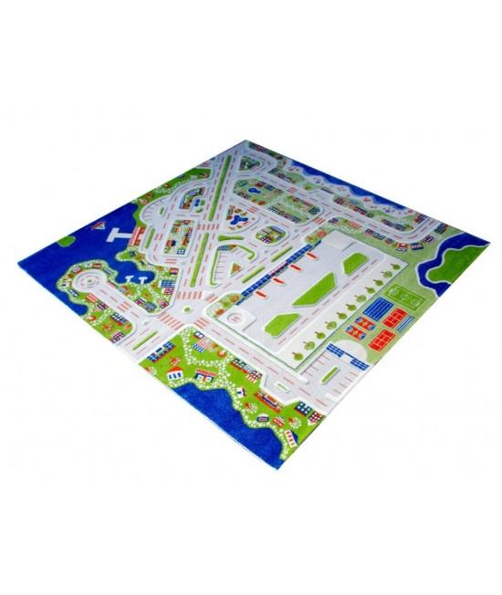 Covor de joacă pentru copii 3D - IVI MiniCity 200 x 200
