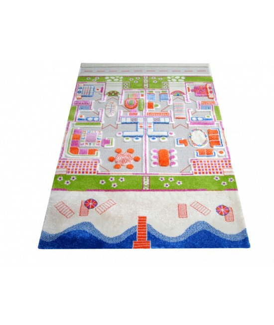 Covor de joacă pentru copii 3D - IVI Summer House 134 x 180