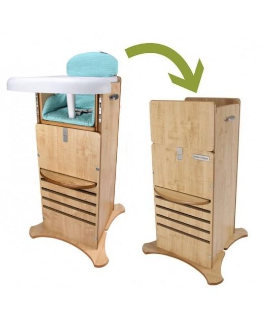 Scaun de masă & Turn de joacă și învățare FunPod Little Helper 5 în 1 - Turcoaz
