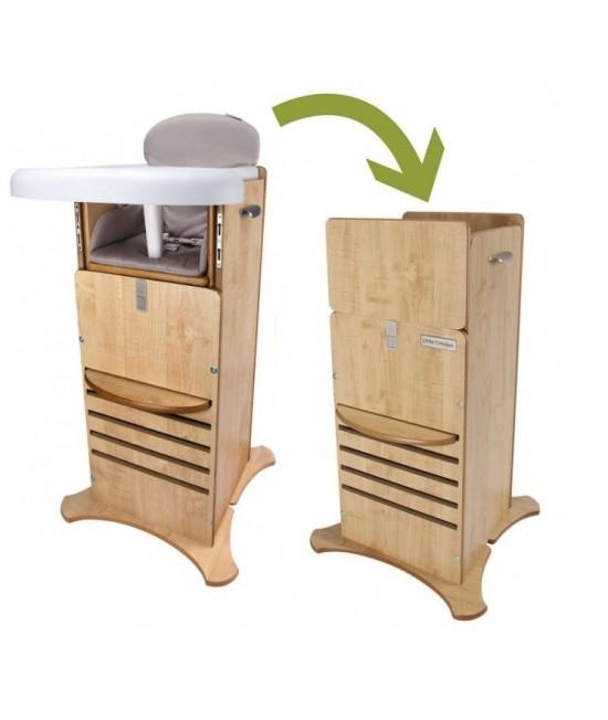 Scaun de masă & Turn de joacă și învățare FunPod Little Helper 5 în 1 - Caramel