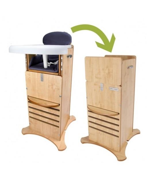 Scaun de masă & Turn de joacă și învățare FunPod Little Helper 5 în 1 - Gri
