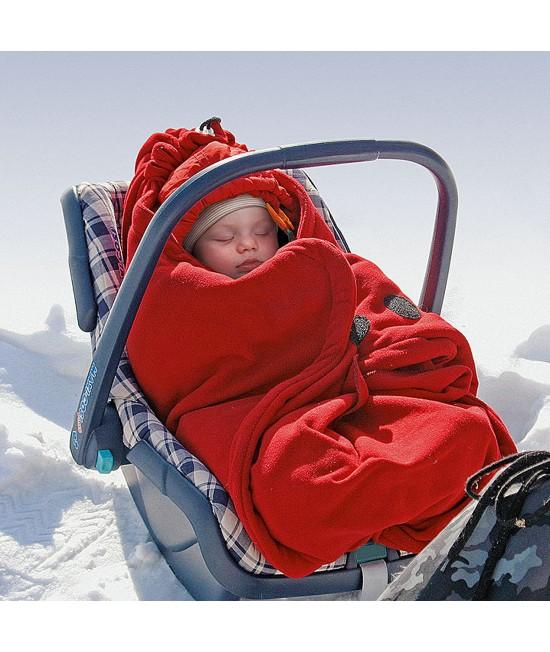 Pătură din polar Hoppediz pentru scoica de mașină - Red