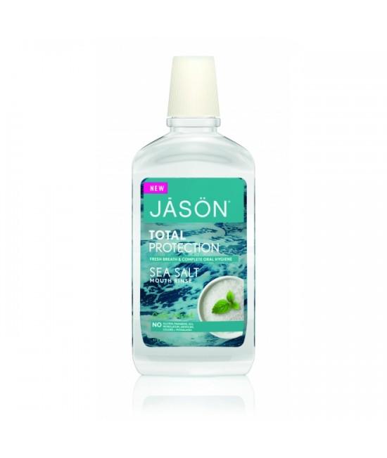 Apă de gură Jason Total Protection - cu sare de mare pentru respirație proaspătă - 473ml