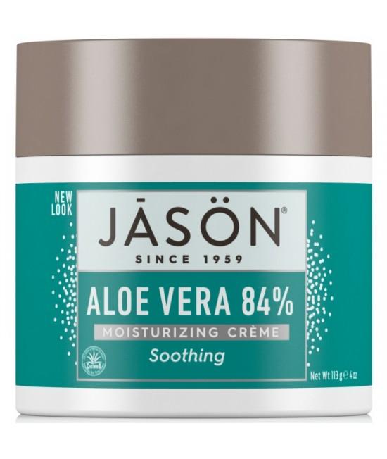 Cremă de față hidratantă și restructurantă Jason cu 84% aloe vera organică