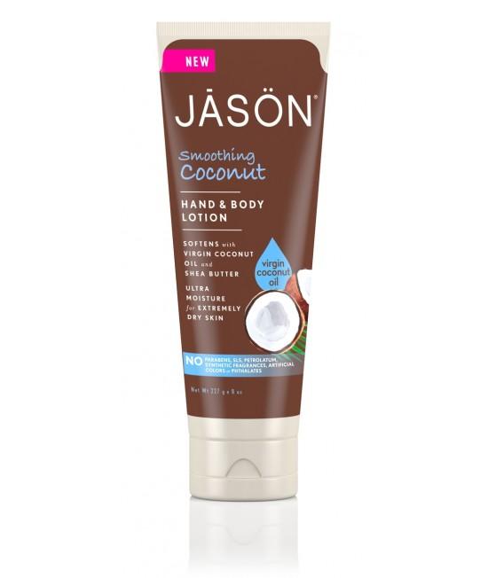 Cremă hidratantă Jason cu ulei de cocos pentru mâini și corp