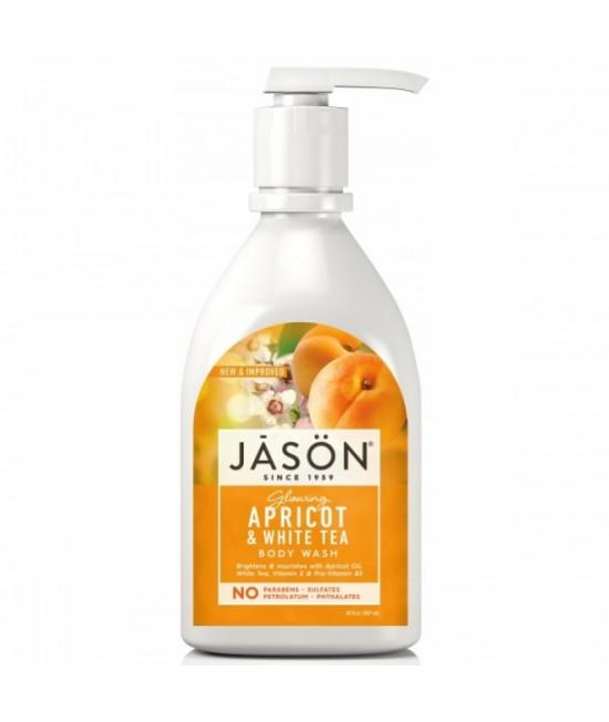 Gel de duș natural satinat JASON cu caise și ceai alb - 887 ml