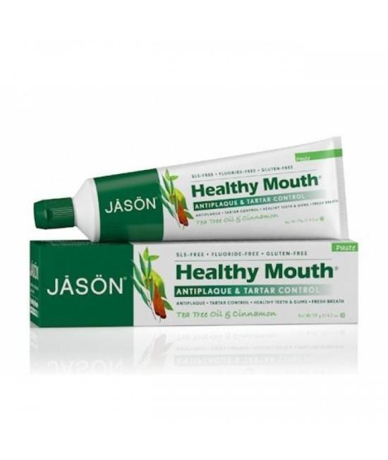 Pastă de dinți Jason Healthy Mouth fără fluor - contra gingiilor iritate, plăcii și tartrului