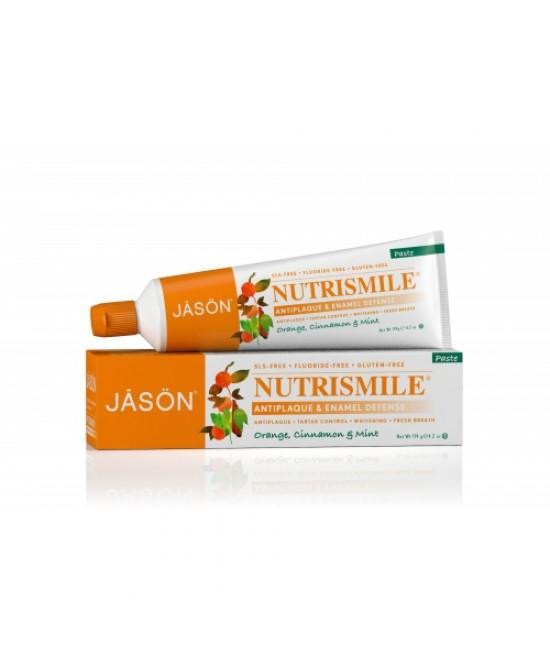 Pastă de dinți Jason Nutri Smile fără fluor - pentru prevenirea tartrului și cariilor