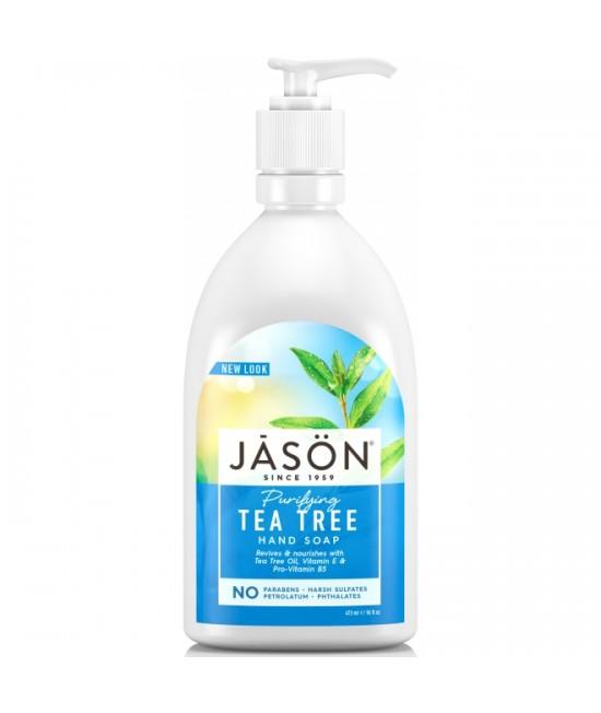 Săpun lichid antibacterian JASON cu tea-tree - pentru față și mâini