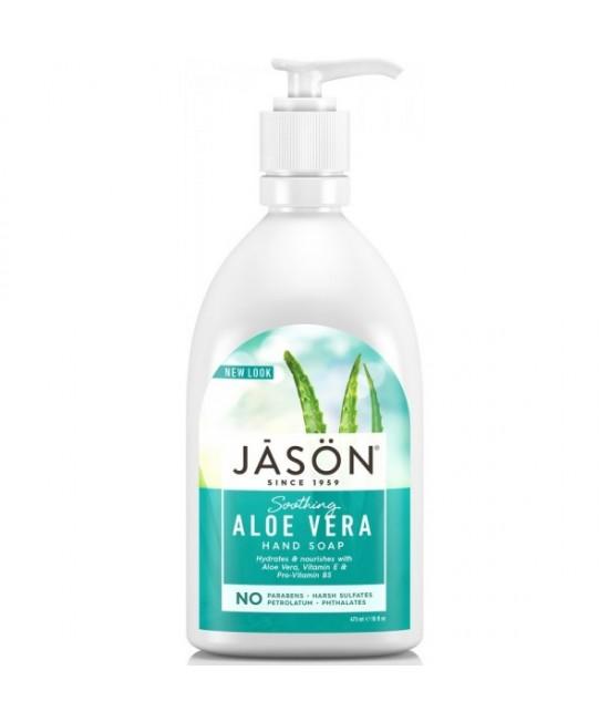 Săpun lichid JASON regenerant cu aloe vera - pentru față și mâini