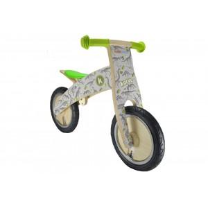Bicicletă de echilibru din lemn - Kiddimoto Kurve Fossil