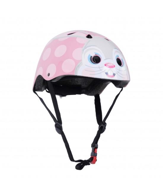 Cască de protecție Kiddimoto Pink Bunny mărimea M