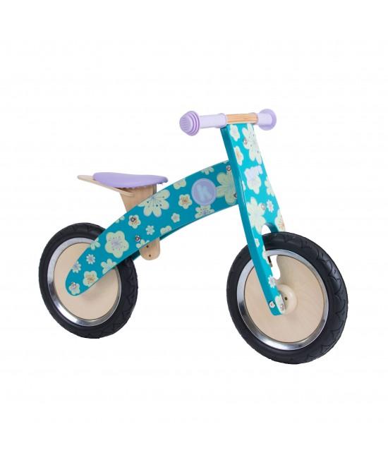Bicicletă de echilibru din lemn - Kiddimoto Kurve Fleur
