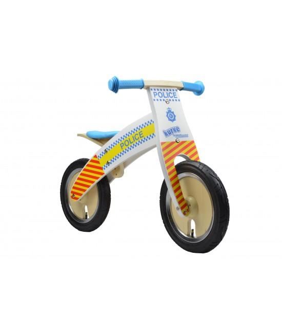 Bicicletă de echilibru din lemn - Kiddimoto Kurve Police