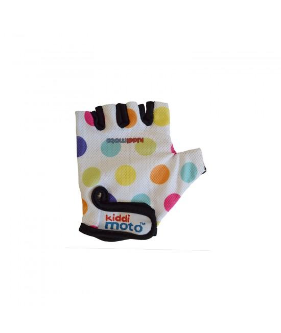 Mănuși de protecție Kiddimoto Pastel Dotty mărimea M