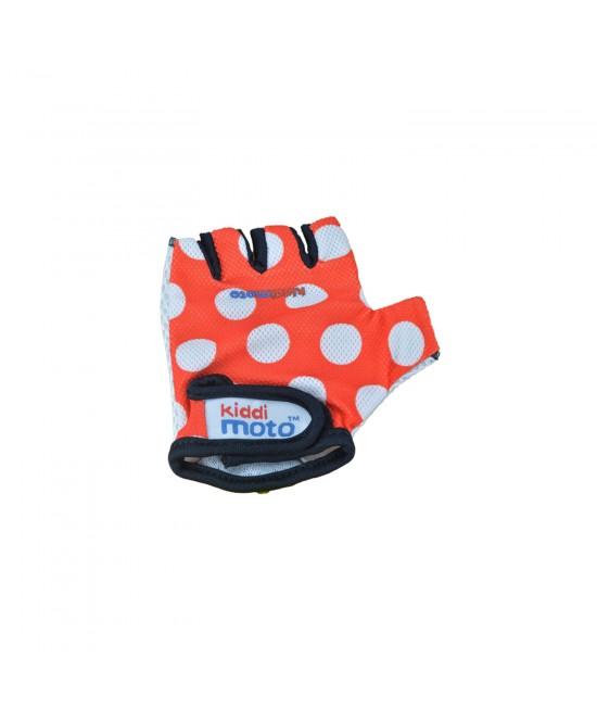 Mănuși de protecție Kiddimoto Red Dotty mărimea M