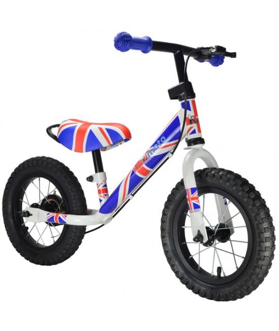 Bicicletă de echilibru Kiddimoto Super Junior Max Union Jack