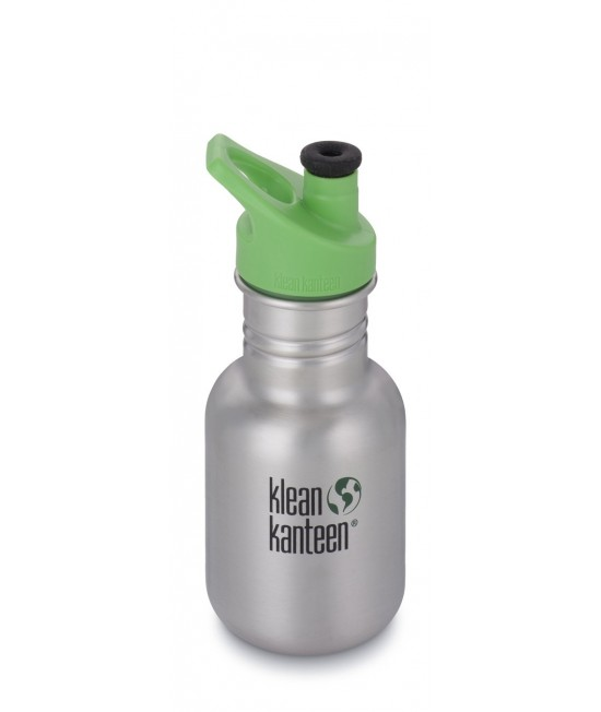 Recipient 355 ml Kid Classic Sport (Capac Green Sport) Brushed Stainless, Klean Kanteen