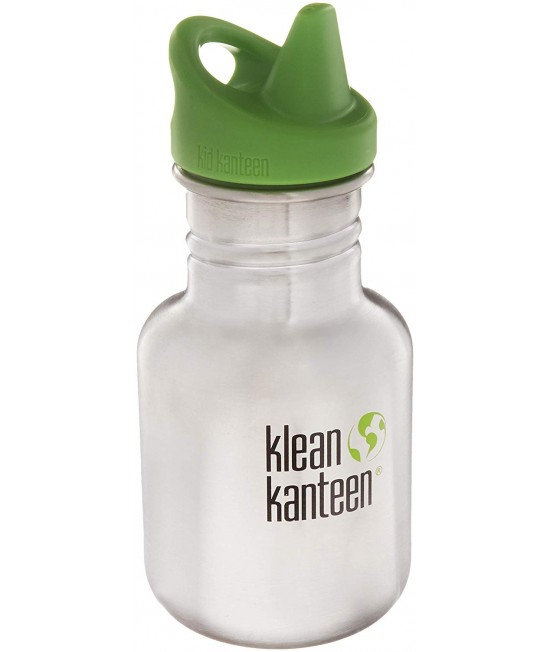 Recipient 355 ml Kid Classic Sippy( Capac Green Sippy) Brushed Stainless, Klean Kanteen
