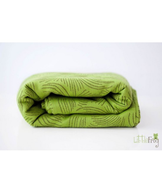 Wrap țesut 4.2 m 100% bumbac Jacquard Little Frog Forest Echo