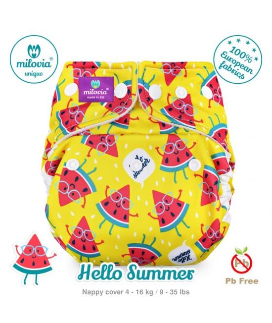 Scutec refolosibil AI2 (cover + inserturi) Milovia Hello Summer Unique cu 2 inserturi (S+M)