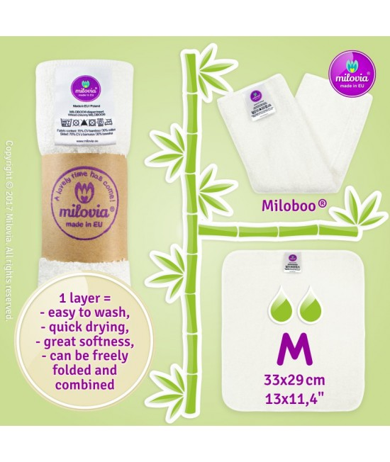 Insert (absorbant) de bambus Milovia Miloboo®