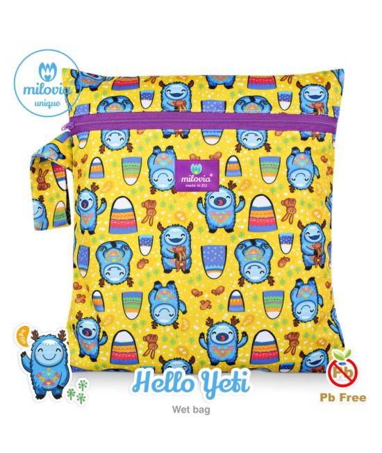 Săculeț pentru depozitarea scutecelor textile (Wet Bag) Milovia Hello Yeti Unique