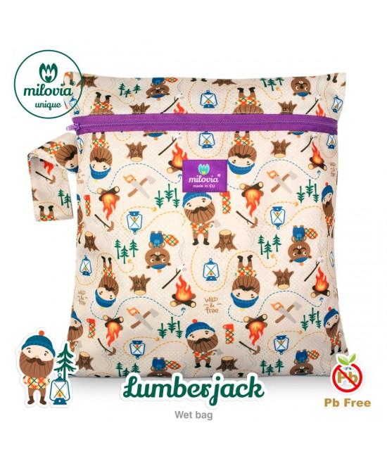 Săculeț pentru depozitarea scutecelor textile (Wet Bag) Milovia Lumberjack Unique