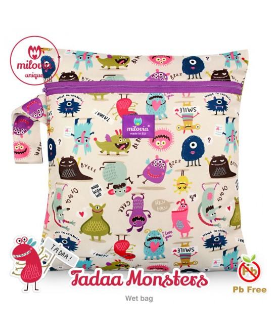 Săculeț pentru depozitarea scutecelor textile (Wet Bag) Milovia Tadaa Monsters Unique