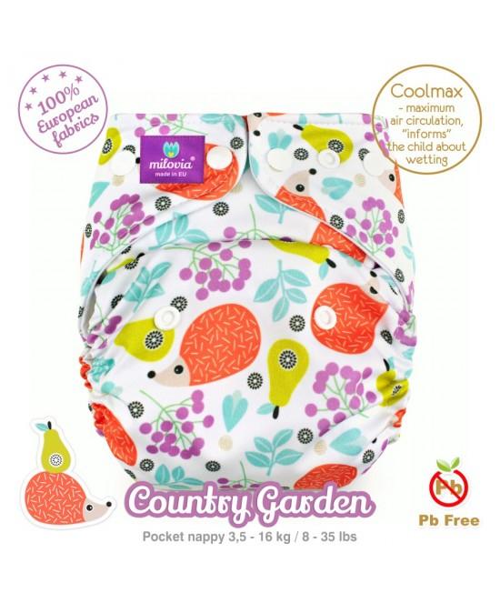 Scutec refolosibil cu buzunar Milovia Coolmax Country Garden - cu absorbante Coolmax M+L