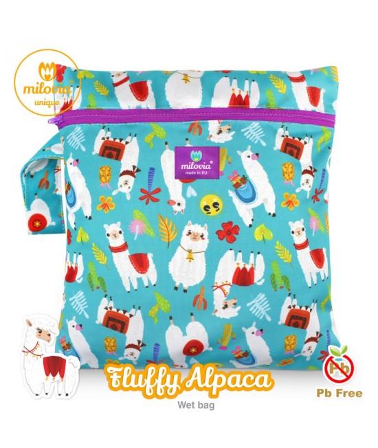 Săculeț pentru depozitarea scutecelor textile (Wet Bag) Milovia Fluffy Alpaca Unique