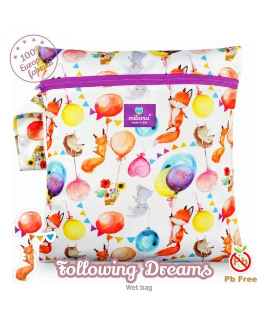 Săculeț pentru depozitarea scutecelor textile (Wet Bag) Milovia Following Dreams