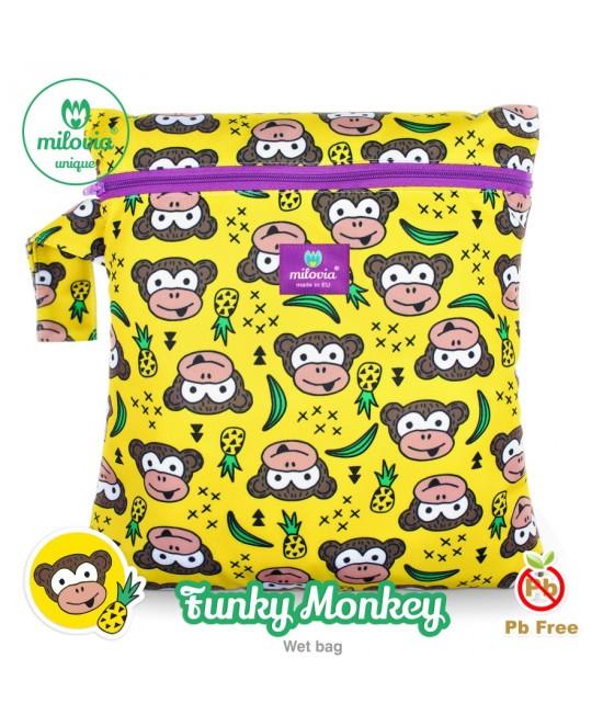 Săculeț pentru depozitarea scutecelor textile (Wet Bag) Milovia Funky Monkey Unique