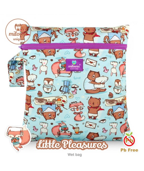 Săculeț pentru depozitarea scutecelor textile (Wet Bag) Milovia Little Pleasures Unique