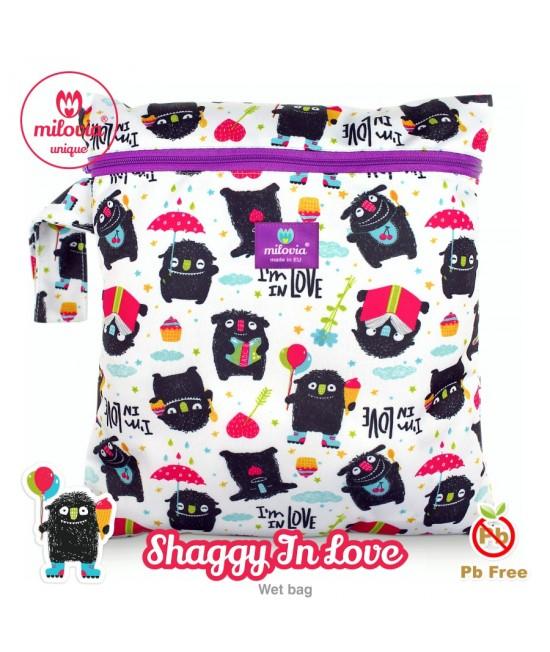 Săculeț pentru depozitarea scutecelor textile (Wet Bag) Milovia Shaggy in Love Unique