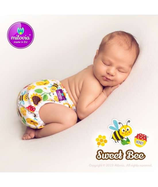 Scutec refolosibil AI2 (cover + inserturi) Milovia Sweet Bee cu 2 inserturi (S+M)