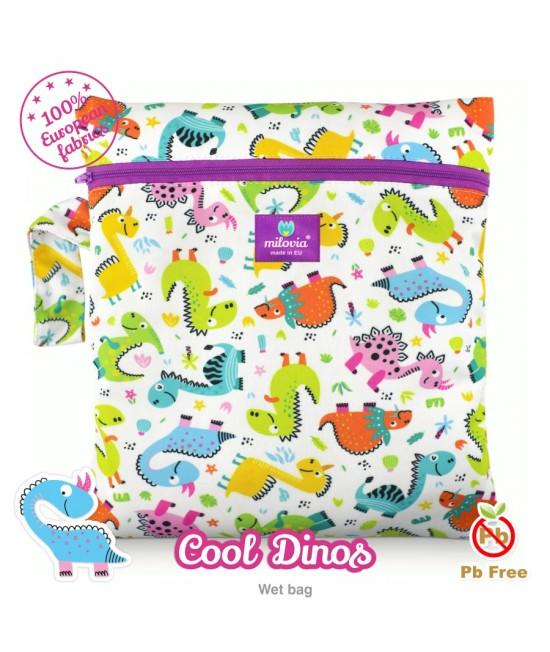 Săculeț pentru depozitarea scutecelor textile (Wet Bag) Milovia Cool Dinos