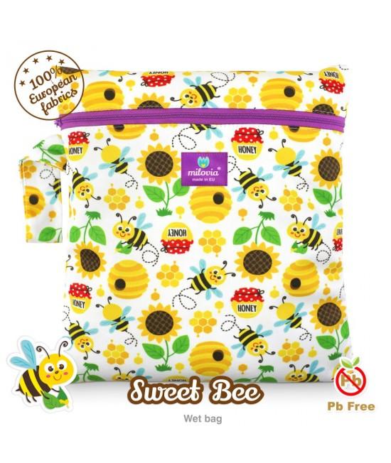 Săculeț pentru depozitarea scutecelor textile (Wet Bag) Milovia Sweet Bee