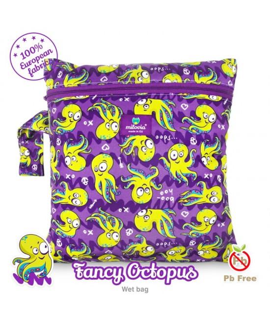 Săculeț pentru depozitarea scutecelor textile (Wet Bag) Milovia Fancy Octopus