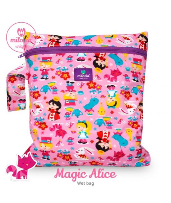 Săculeț pentru depozitarea scutecelor textile (Wet Bag) Milovia Magic Alice