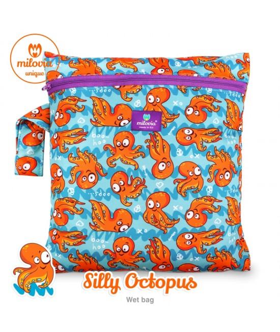 Săculeț pentru depozitarea scutecelor textile (Wet Bag) Milovia Silly Octopus