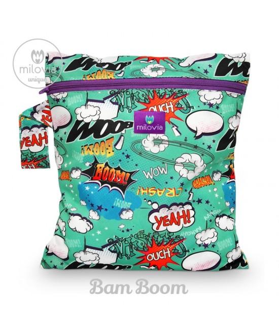 Săculeț pentru depozitarea scutecelor textile (Wet Bag) Milovia Bam Boom