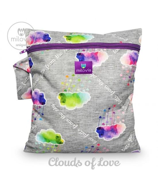 Săculeț pentru depozitarea scutecelor textile (Wet Bag) Milovia Clouds of Love