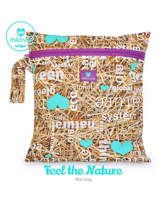 Săculeț pentru depozitarea scutecelor textile (Wet Bag) Milovia Feel The Nature