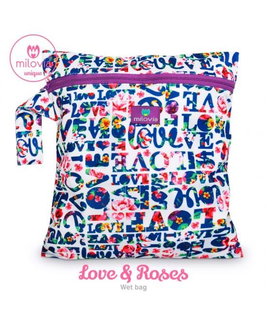 Săculeț pentru depozitarea scutecelor textile (Wet Bag) Milovia Love&Roses