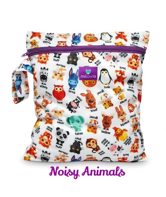 Săculeț pentru depozitarea scutecelor textile (Wet Bag) Milovia Noisy Animals