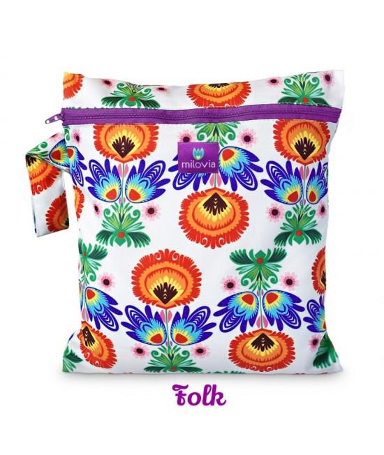 Săculeț pentru depozitarea scutecelor textile (Wet Bag) Milovia Folk