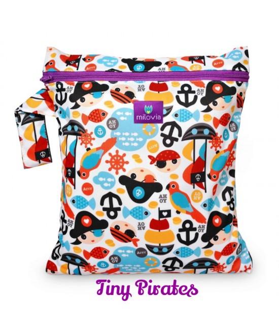 Săculeț pentru depozitarea scutecelor textile (Wet Bag) Milovia Tiny Pirates